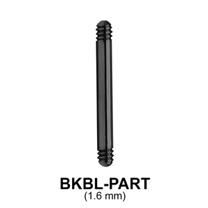 Black Steel Straight Barbell Part BKBL-PART