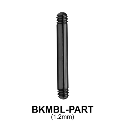 Black Steel Micro Straight Barbell Part BKMBL-PART