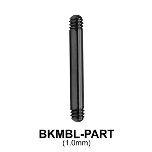 Black Plated Micro Barbell Part Threading 1.2mm BKMBL-PART (1.0mm)