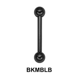 1.2mm Straight Barbells Ball BKMBLB