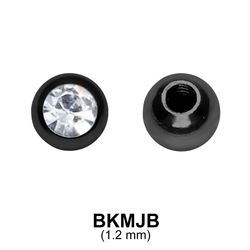 Black Plated Micro Jewelled Ball BKMJB