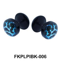 Blue Cheetah UV Fake Plug FKPLPIBK-006-BL