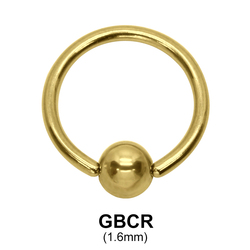 Gold Plated Ball Closure Ring GBCR