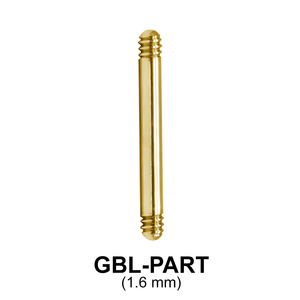 Gold Plated Straight Barbell Part GBL-PART