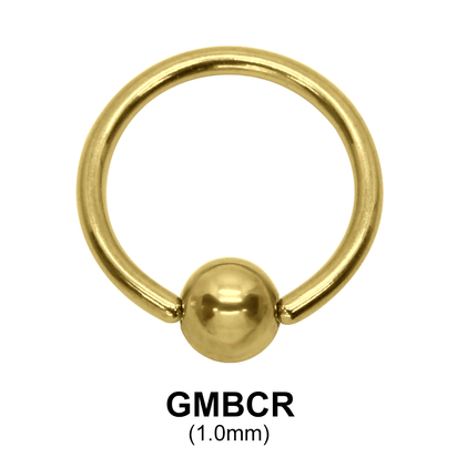 Gold Plated Micro Ball Closure Ring GMBCR (1.0)