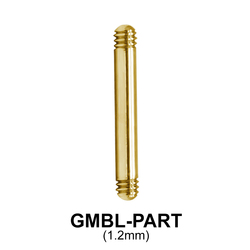 Gold Plated Micro Straight Barbell Part GMBL-PART