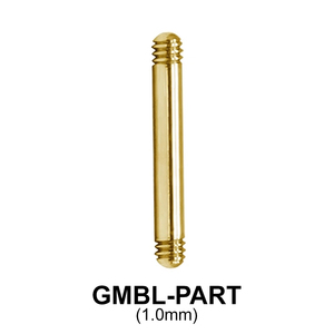 Gold Plated Micro Barbell Part Threading 1.2mm GMBL-PART (1.0mm)