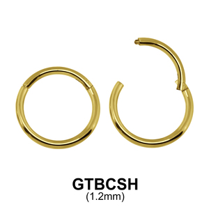 G23 Gold Plated Segment Ring GTBCSH 1.2mm