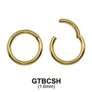 G23 Gold Plated Segment Ring GTBCSH 1.6mm