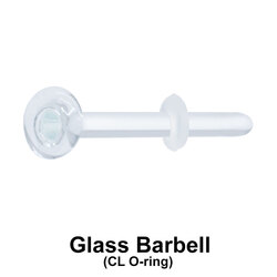 Glass Piercing Straight Bar with Clear O-ring