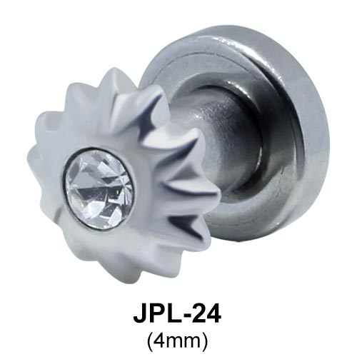 Flower Shaped Ear Piercing CZ Plugs JPL-24