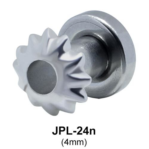 Hollow Flower Ear Piercing CZ Plugs JPL-24n
