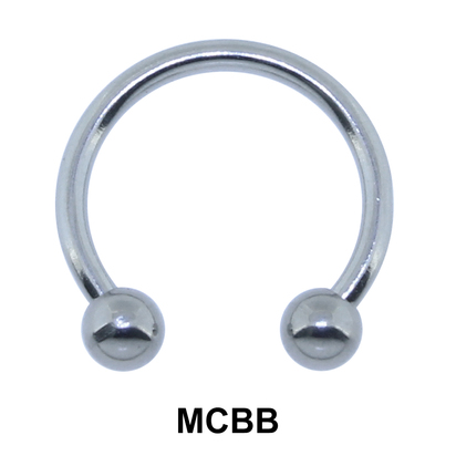 1.0mm Micro Circular Barbells Ball with Treading 1.2mm MCBB