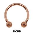 1.2 mm Micro Circular Barbells Ball MCBB