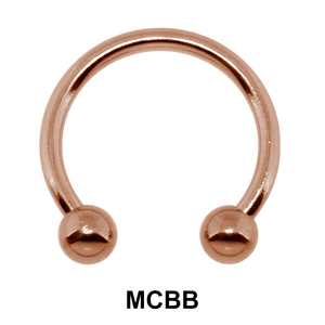 Rose Gold Micro Circular Barbells Ball Basic Piercing RGMCBB