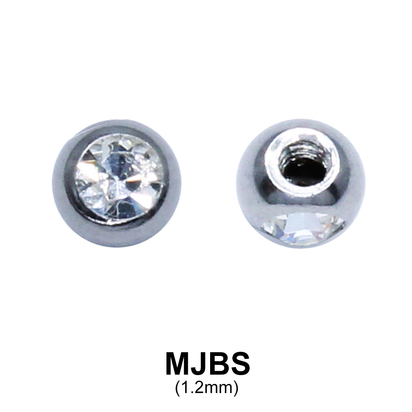 Micro Jewelled Ball Side Thread MJBS