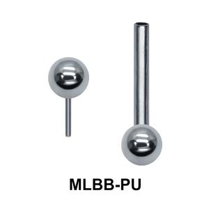 S 316L Push-in Barbells Ball MLBB-PU