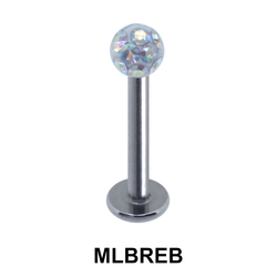 Labret Epoxy Rainbow Ball MLBREB