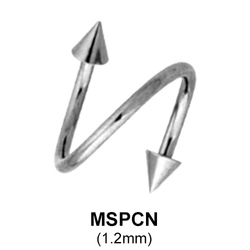 Spiral Cones Basic Face Piercing MSPCN