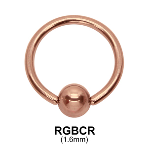 Rose Gold Ball Closure Ring RGBCR