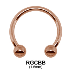 Rose Gold Circular Barbells Ball RGCBB