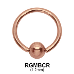 Rose Gold Micro Ball Closure Ring RGMBCR