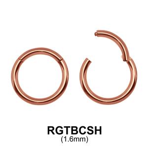 G23 Rose Gold Plated Segment Ring RGTBCSH 1.6mm