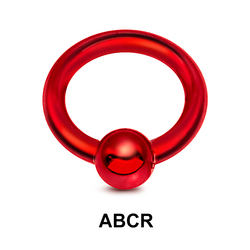 Red Surgical Steel Ball Closure Ring ABCR