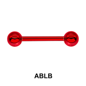 Red Surgical Steel Barbell Ball ABLB