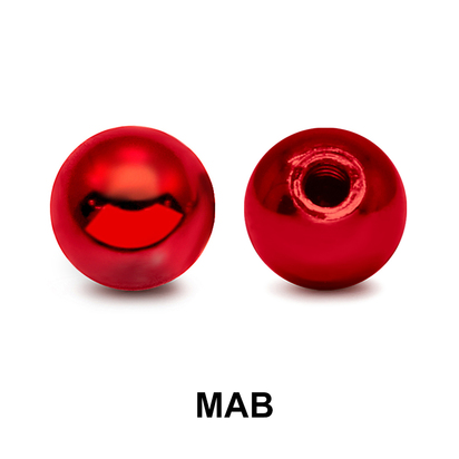 Red Surgical Steel Micro Ball Part MAB