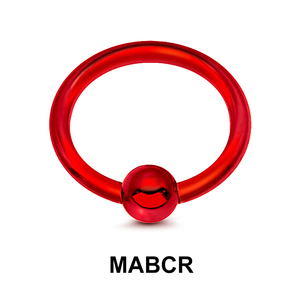 Red Surgical Steel Micro Ball Closure Ring MABCR
