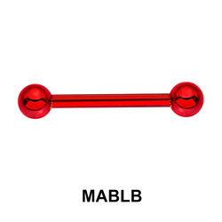 Red Surgical Steel Micro Barbell Ball MABLB