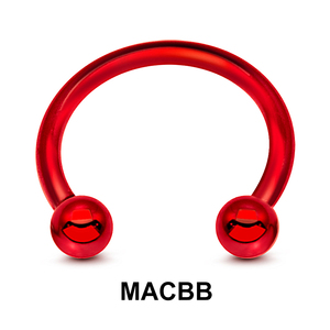 Red Steel Micro Circular Barbelll Ball MACBB