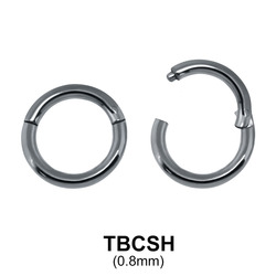 G23 Titanium Segment Ring TBCSH 0.8mm