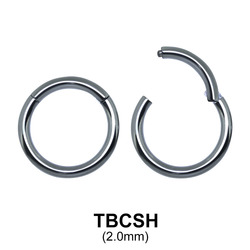 G23 Titanium Segment Ring TBCSH 2.0mm