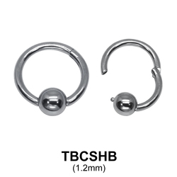 G23 Titanium Segment Ring TBCSHB 1.2mm