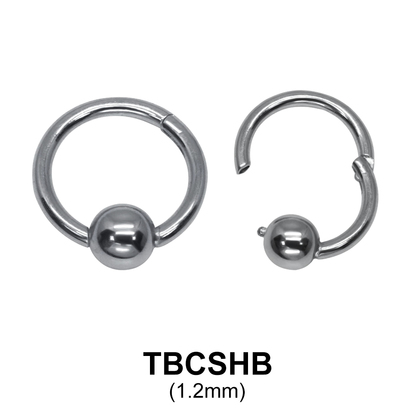 G23 Titanium Segment Ring TBCSHB 1.2mm