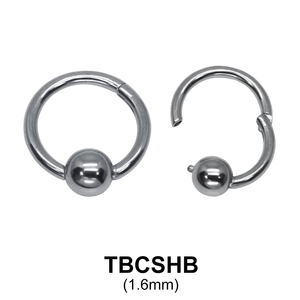 G23 Titanium Segment Ring TBCSHB 1.6mm