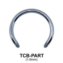 G23 Circular Barbell Basic Titanium Part TCB-PART