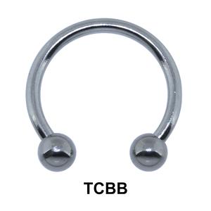Basic Titanium Circular Barbells Ball TCBB 1.6mm