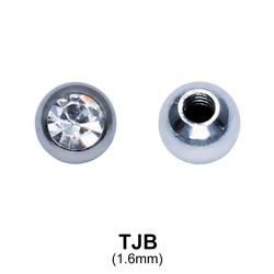 G23 Basic Titanium Jewelled Ball TJB