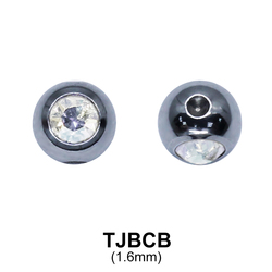 G23 Titanium Jewelled Ball  TJBCB