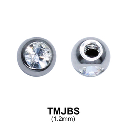 G23 Micro Jewelled Ball Side Thread Titanium  TMJBS