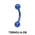 Basic Titanium Banana Jewelled Balls TSBNDJ