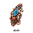 Stone Set Complex Design Belly Rings AI-01