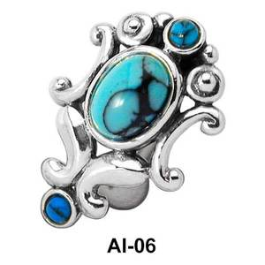 Turquoise Stone Belly Piercing AI-06