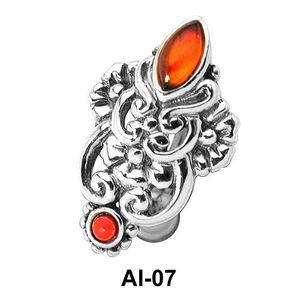 Stone Set Upper Belly Rings Piercing AI-07