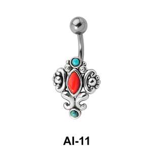 Turquoises Belly Piercing AI-11