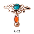 Dual Stone Belly Piercing AI-26