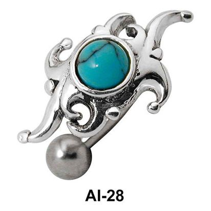 Stone Studded Fashionable Pattern Belly Rings AI-28